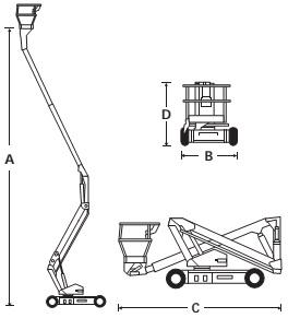 Электрический стреловой подъемник A38E
