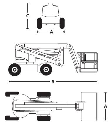 Электрический стреловой подъемник A46JE