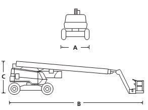 Коленчатый подъемник  AB80J / AB85J