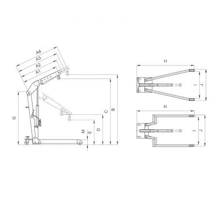 Кран передвижной гидравлический HWK KLS