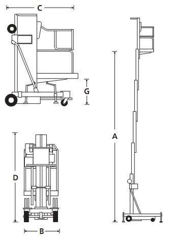 Мачтовый персональный подъёмник PAM 26