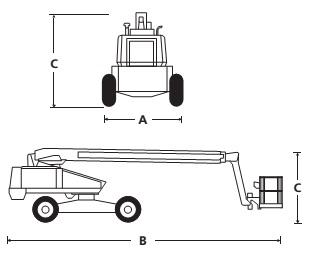 Телескопический стреловой подъёмник 600S / 660SJ