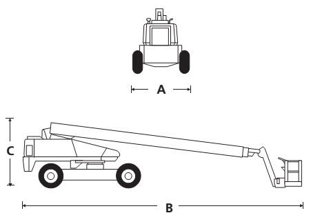 Телескопический стреловой подъёмник TB80 / TB86J