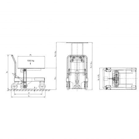 Передвижная подъёмная платформа HW