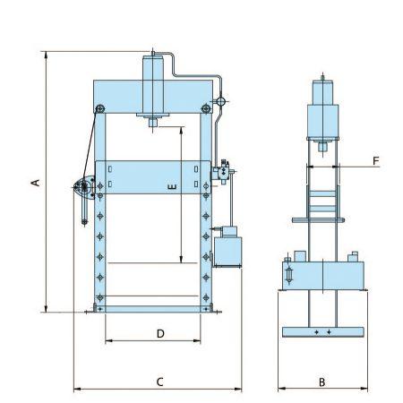 Прессы гидравлические для мастерских с электронасосом HWPEP