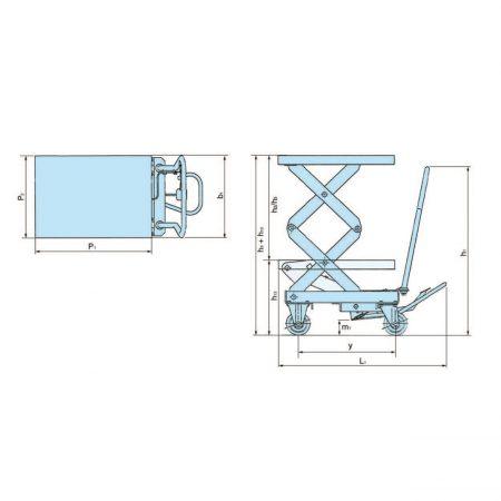 Тележка с ножничной подъёмной платформой HX-D 0350