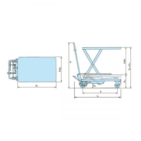 Тележки с ножничной подъёмной платформой HX