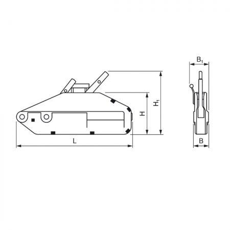 Механизм тяговый монтажный Yaletrac ST