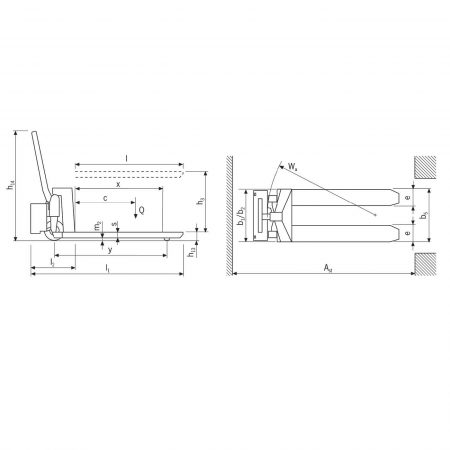 Тележка электрогидравлическая с ножничным подъемом HU ES