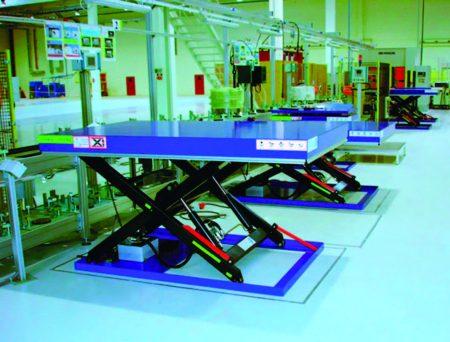Стационарный подъёмный стол, используемый как рабочая платформа серия Р
