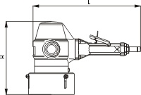 Пневматическая угловая шлифовальная машинка Модель PBU 125С-45Х