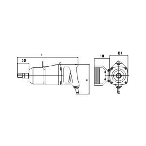 Пневматический гайковерт ударный Модель PSR 36C-L