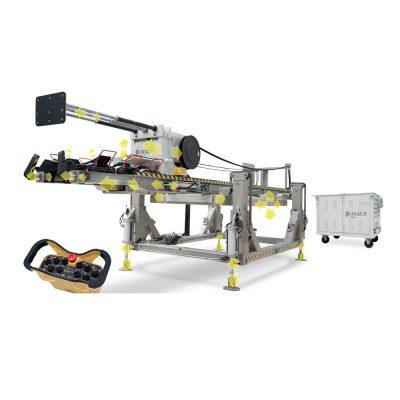 Стационарная машина для вставки и вытяжки трубного пучка в/из кожуха теплообменника Mef ShopIN