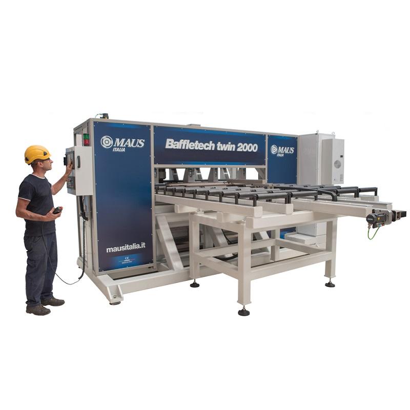 Автоматическая установка с двойной головкой для зенкования отверстий переборки Baffletech twin 2000